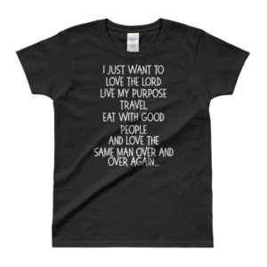 A Single Woman's Declaration Black Ladies' T-shirt
